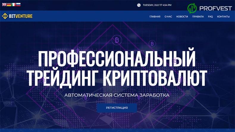 BitVenture: обзор и отзывы HYIP-проекта