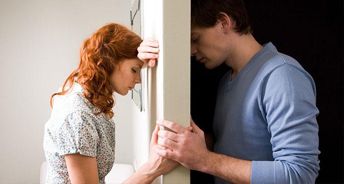 Image Of Sad Couple