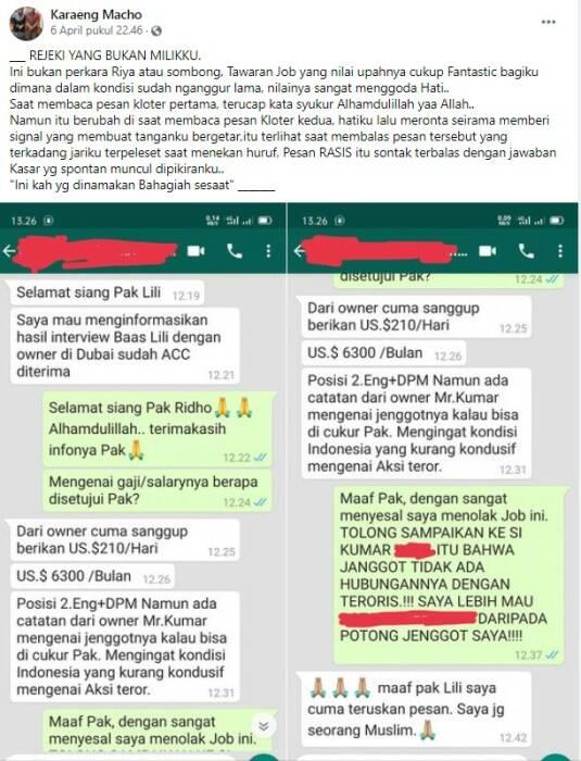 Viral-Teknisi-Tolak-Gaji-Rp90-Juta-karena-Diminta-Cukur-Jenggot-Agar-Tak-Mirip-Teroris