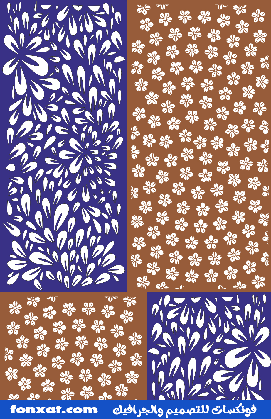Decor Floral Pattern Floral Decor Screen Panel Pattern