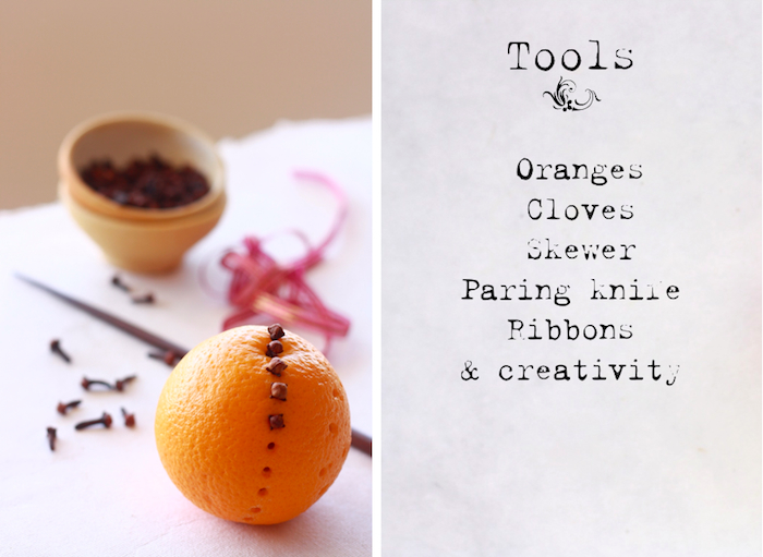 how to make orange pomanders