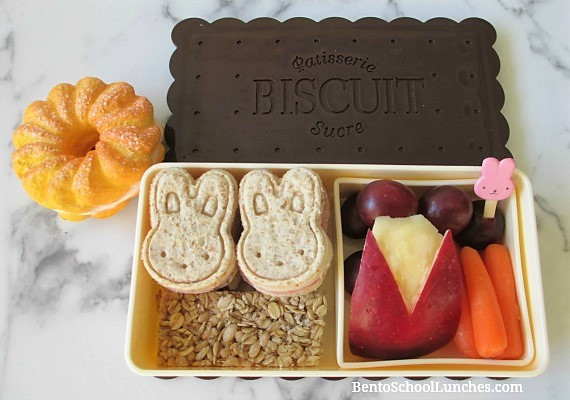 Bunny bento lunch, Modes4u bento box and squishy review