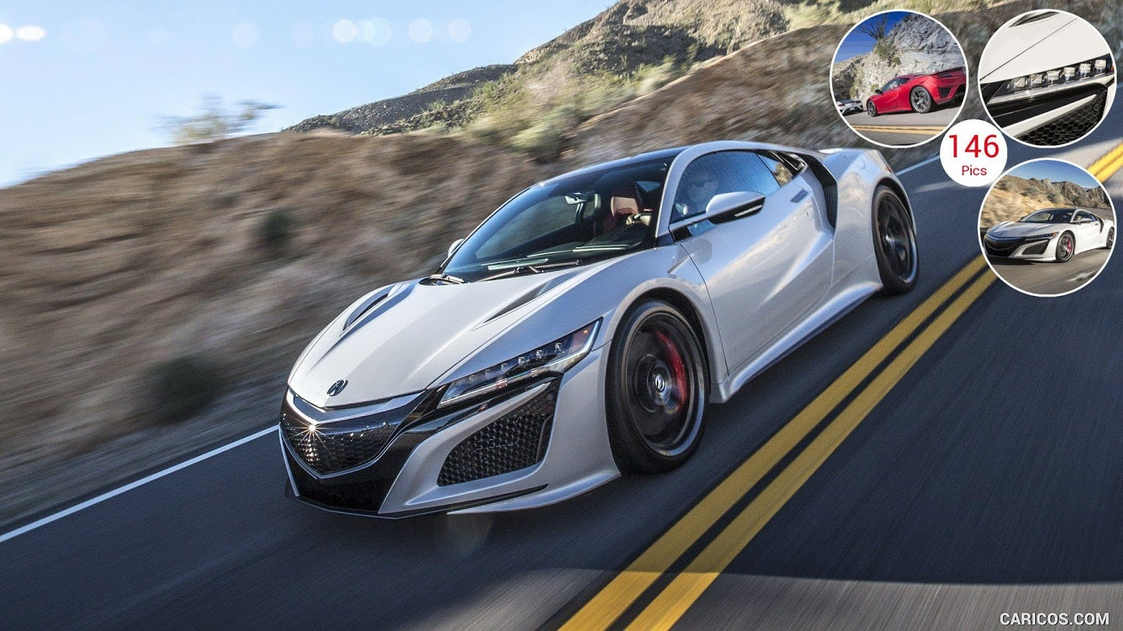 2017 Acura NSX White car wallpapers