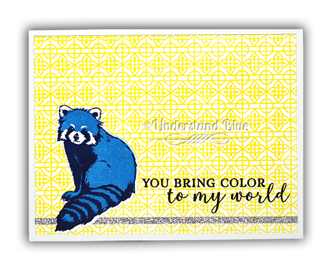 Blue Red Panda Card by Understand Blue