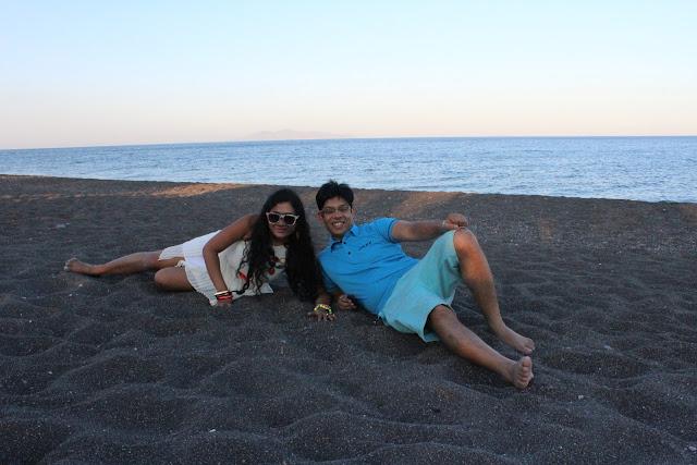 Perissa black Beach