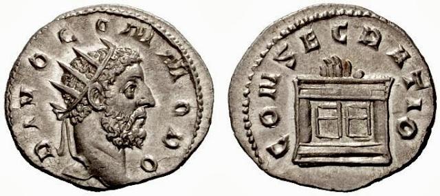 Antoniniano de Trajano Decio en homenaje a Nerva - serie de los divi