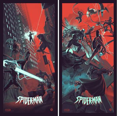 Spider-Man Screen Prints by Juan Ramos x Bottleneck Gallery x Marvel Comics