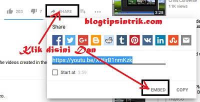 Cara Mudah Menggambil Kode Embed Video Youtube