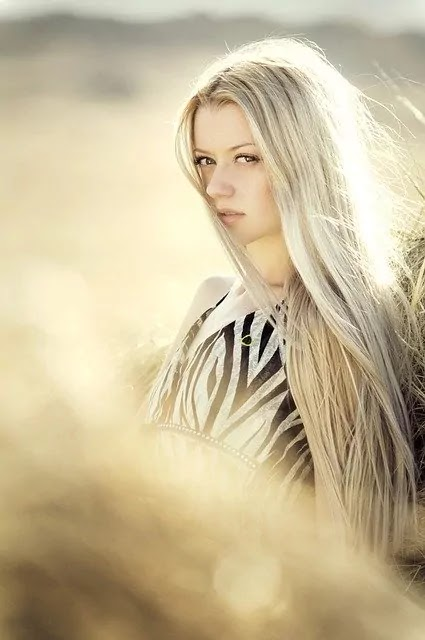 white hair cute smile look girl image