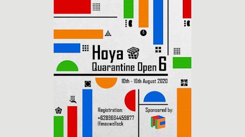 poster lomba rubik hoya quarantine open 6 2020