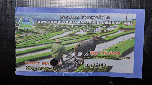 Tiket Masuk Jatiluwih Rice Terrace Bali