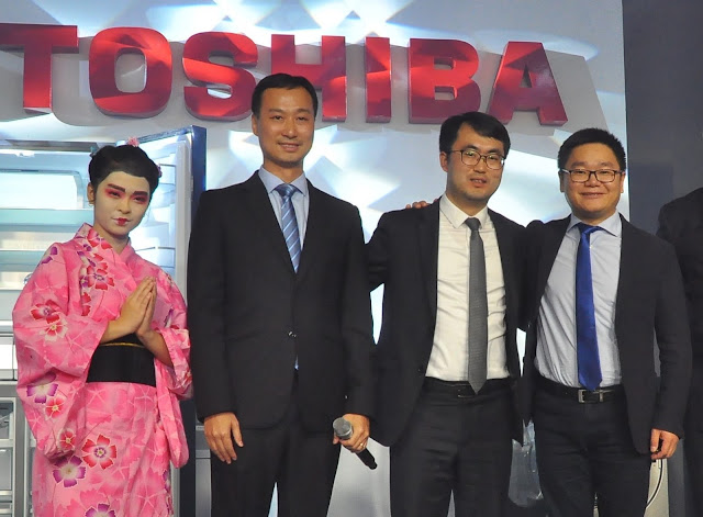 (L-R) Zeal Jiang, General Manager of Overseas Market – Refrigerator Division, Midea Group; Rooney Xiao, General Manager of Overseas Market – Laundry Division, Charles Zhang, Deputy General Manager of Concepcion Midea Inc.;