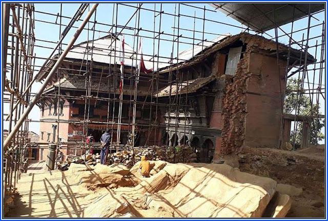 Reconstruction of historical Gorkha palace