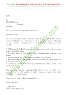 sample letter request for disinfection of office