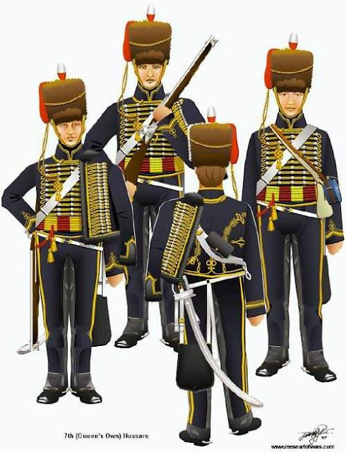 Seragam dan atribut tentara Inggris saat perang Waterloo