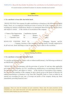 board resolution format for donation to charitable trust