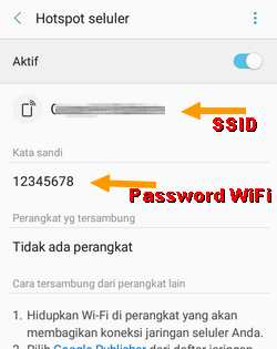 menu ubah nama hotspot Samsung