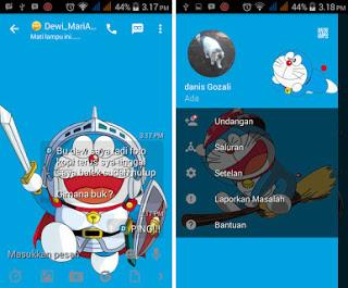 BBM Mod Doraemon Apk Terbaru