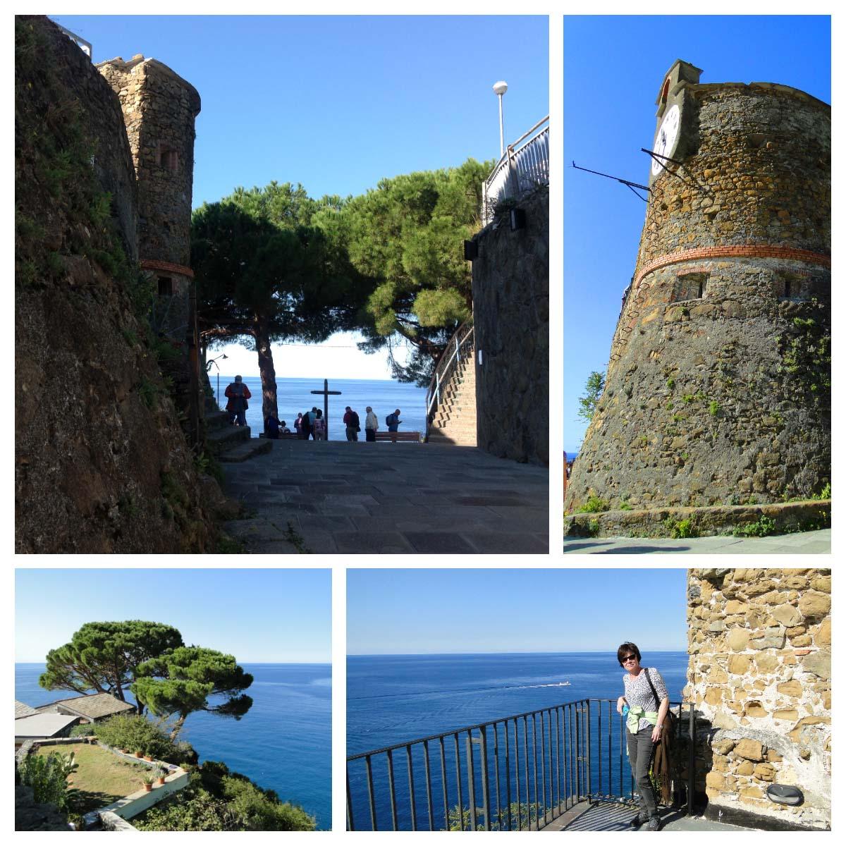 Castelo de Riomaggiore, Cinque Terre, Itália