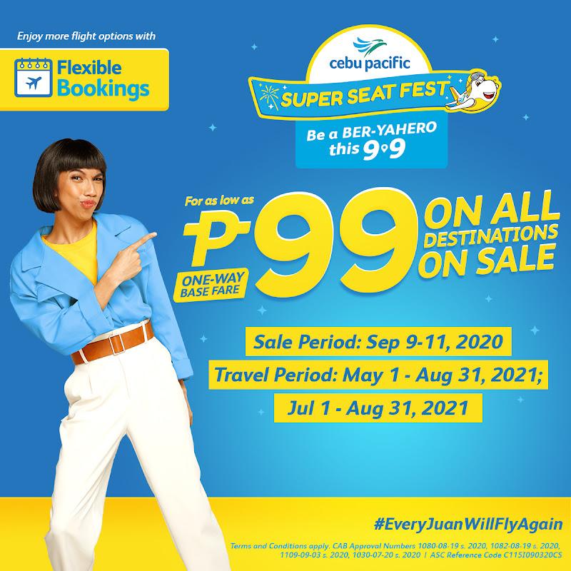 99 Cebu Pacific Seat Sale September 2020