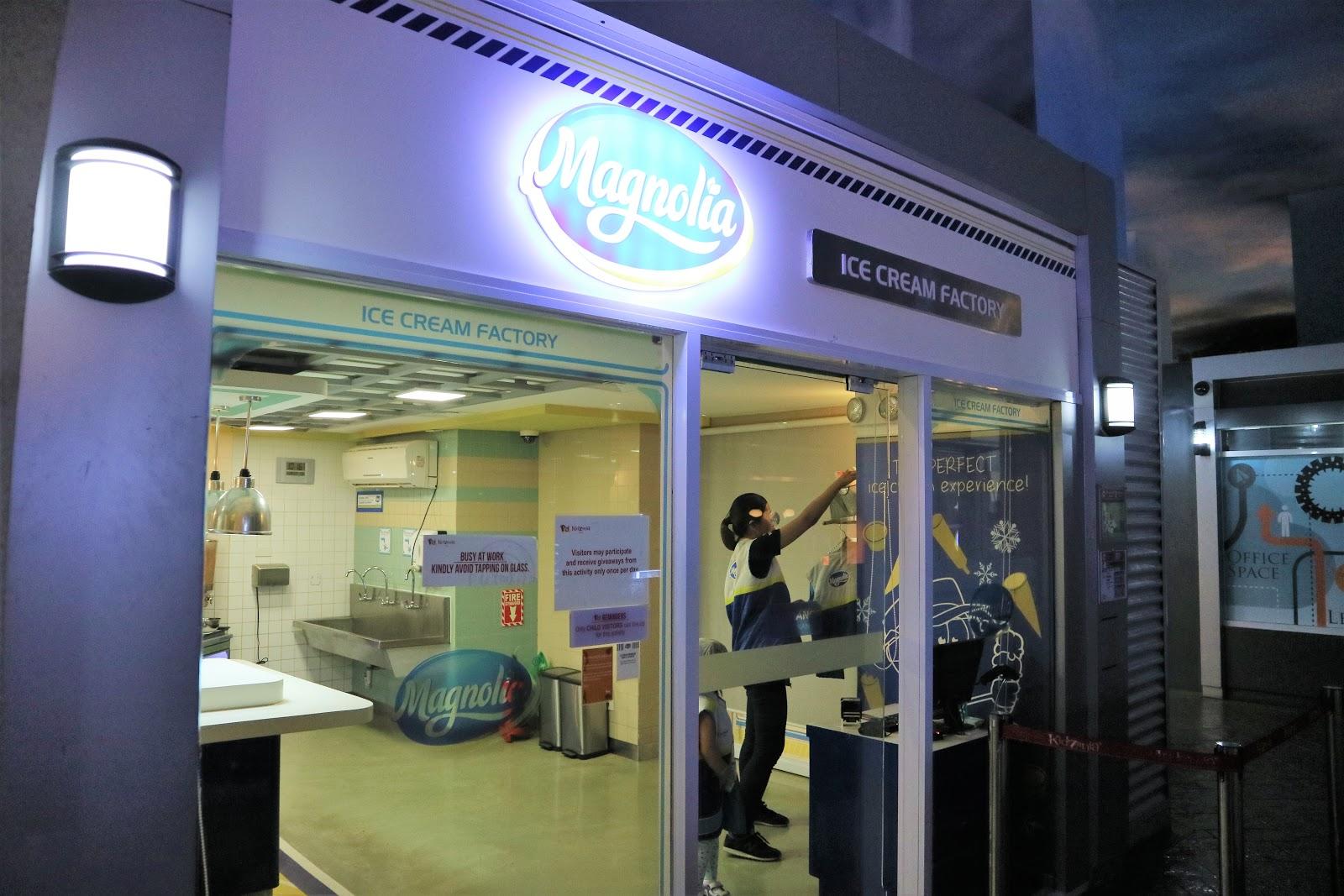 Magnolia Ice Cream Factory in KidZania Manila