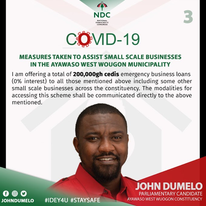 John Dumelo announces GHC 200,000 interest free loans to small scale businesses in Ayawaso West Constituency