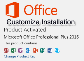 Customize office C2R installation for Office 2013 and 2016 with Office Deployment Tool