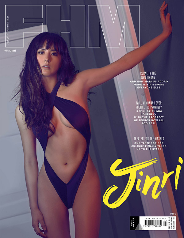 Jinri Park on the cover of FHM's July 2017 issue