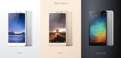 Harga Xiaomi Redmi Note 3 dan spesifkasi lengkap