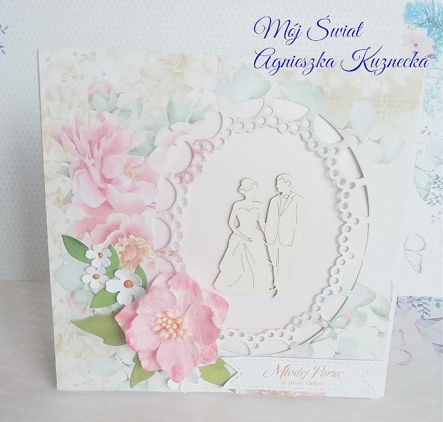 2061 – Różane kartki ślubne