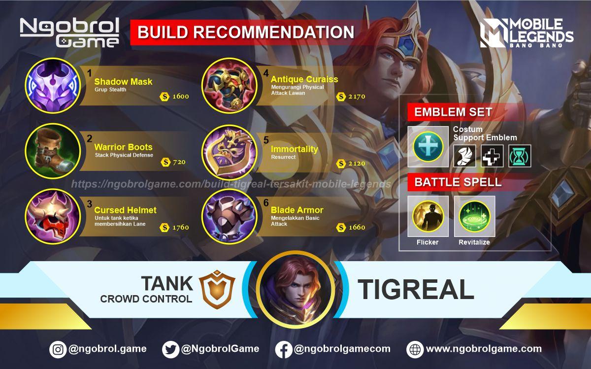 Build Tigreal Terbaik Mobile Legends