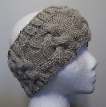 Knitted Cable Head Band Ear Warmer Hand Knitting Pattern