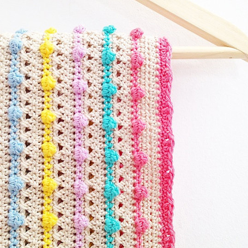 Bobble Stitch Blanket - Crochet Pattern