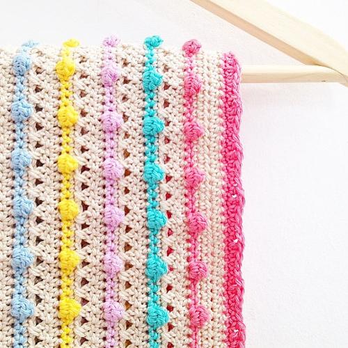 Bobble Stitch Blanket - Crochet Pattern