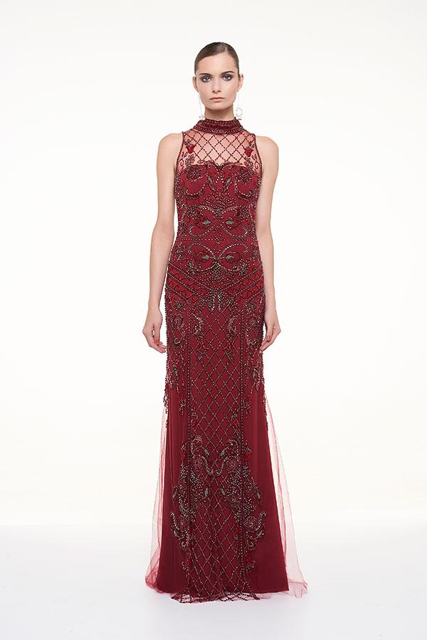 vestido de festa vinho,marsala , bordô