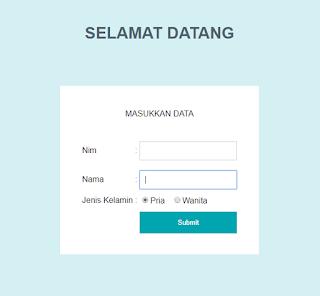 Cara memuat form php sederhana dengan css