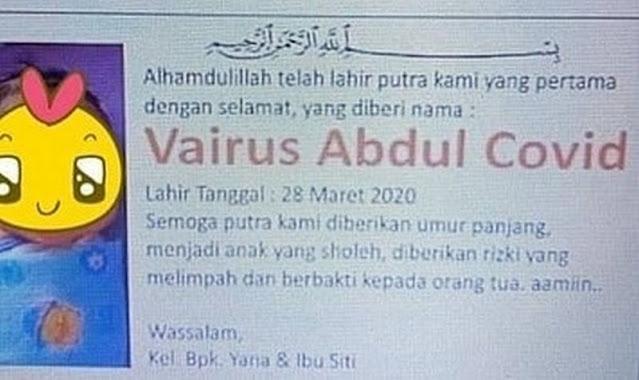 Inilah Nama-nama Orang Paling Unik dan Paling Aneh di Indonesia