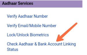 Check Bank Linking Aadhar Status
