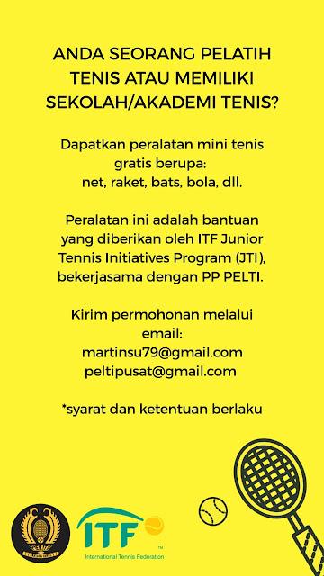 PP PELTI Salurkan Bantuan Peralatan Latihan Tenis bagi Sekolah dan Akademi Tenis