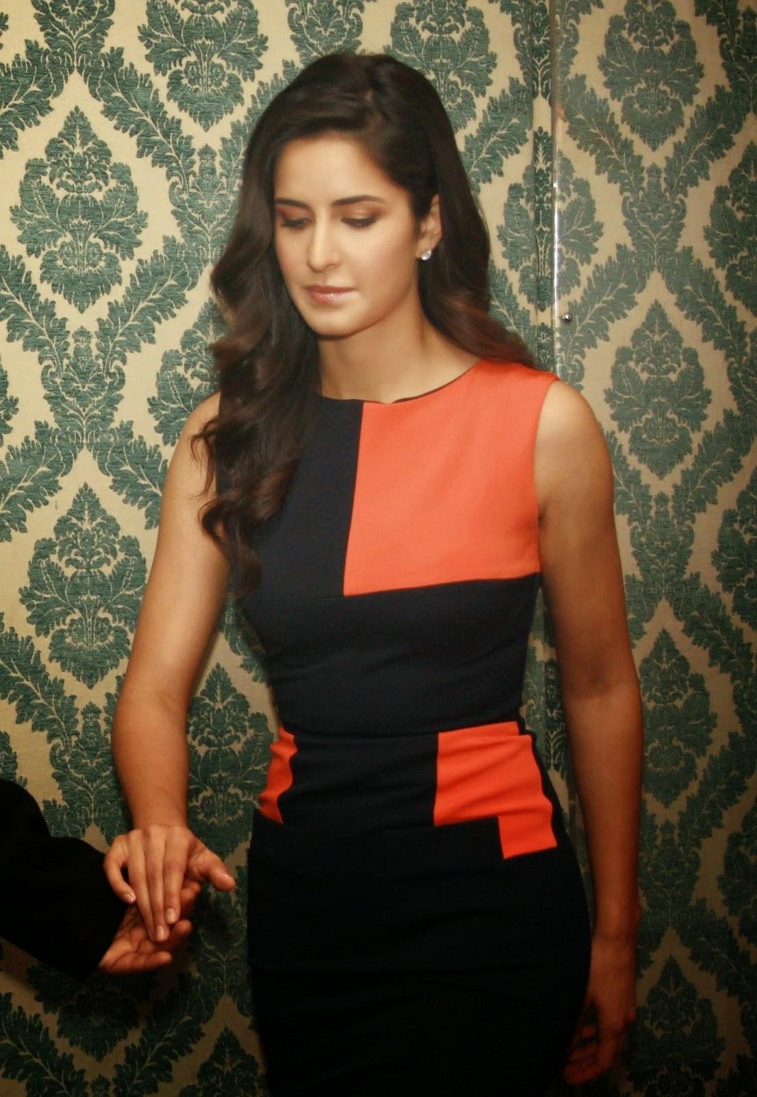Katrina Kaif Latest Hot Photos Gallery In Orange Dress