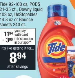 Tide Detergent 100oz