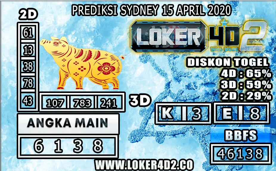 PREDIKSI TOGEL SYDNEY LOKER4D2 15 APRIL 2020