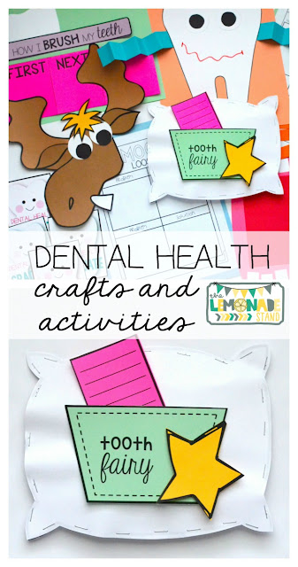 February is Dental Health Month! These dental health activities, children's book suggestions, and dental health crafts are perfect for teaching and getting your students excited about taking proper care of their teeth! Great for kindergarten, first, and second grades!