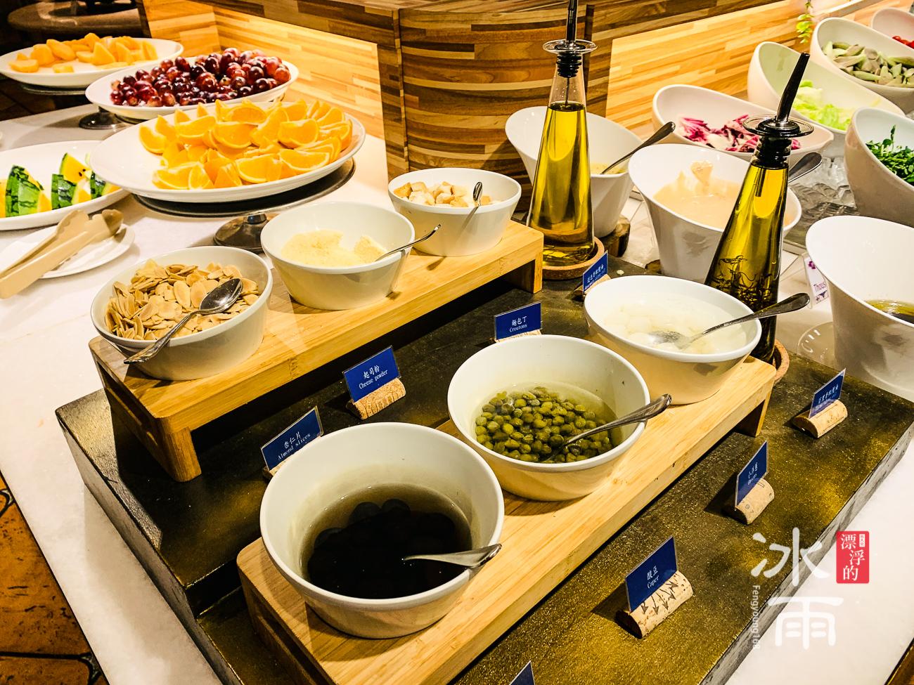 陽明山天籟溫泉會館|早餐菜色|配料