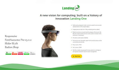 Landing One Responsive Blogger Template