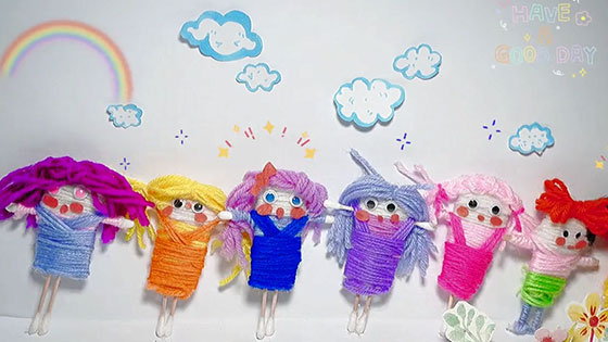 Homemade Q-tips and Crochet Doll  Craft for kids