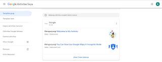 my activtity google di pc