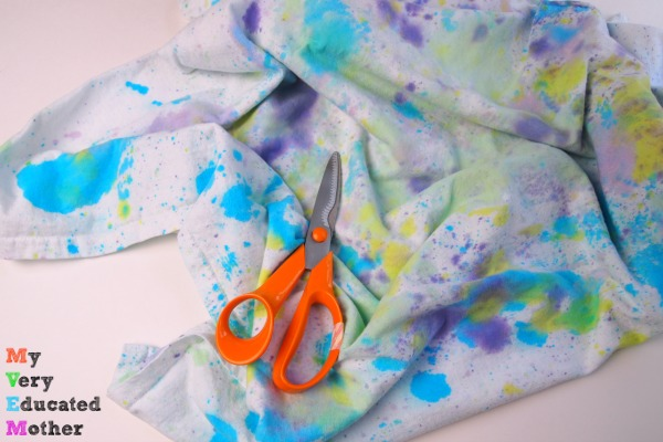 This easy kids craft upcycles old t-shirts into stylish bracelets.