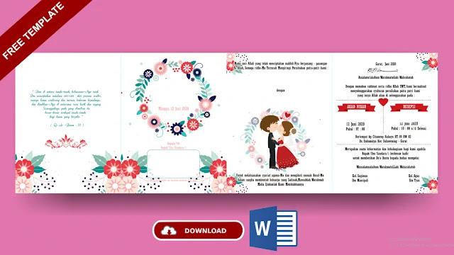 Kumpulan Contoh Undangan Pernikahan Microsrosoft Word