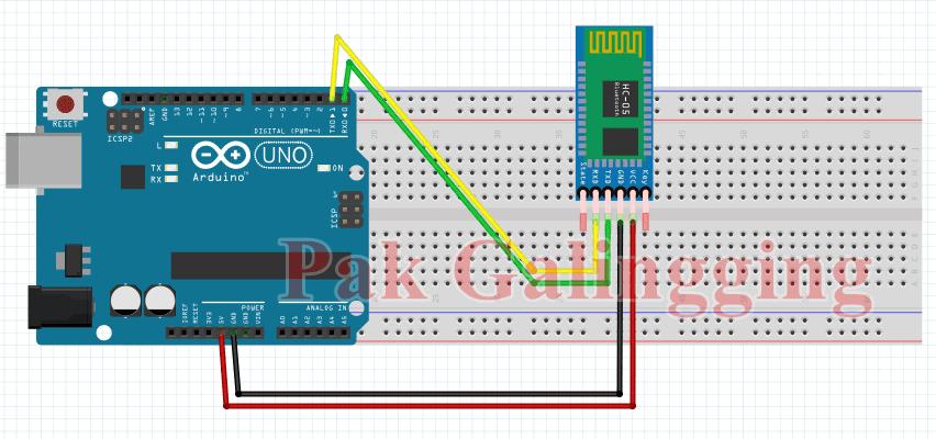 Menghubungkan Modul Bluetooth HC 05 dengan Arduino Uno R3